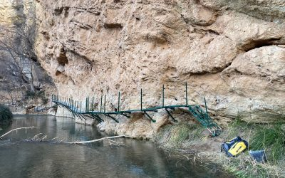 El Parque Cultural del Río Martín mejora el Sendero GR-262
