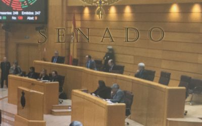 Montalbán se hace presente en el Senado de España